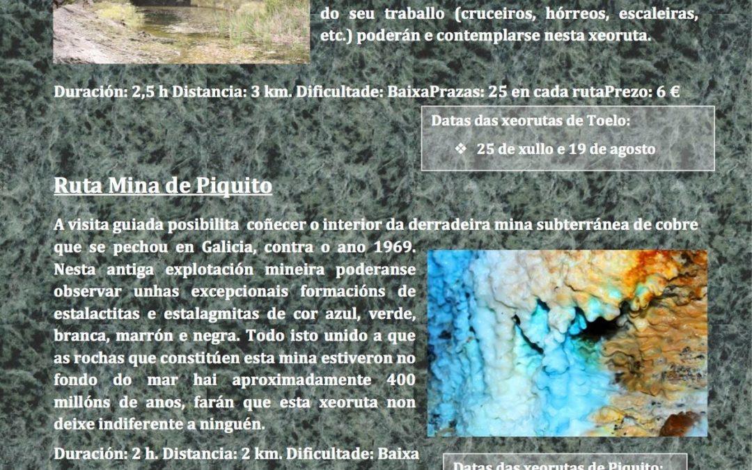 Novas xeorutas en agosto: Toelo e Mina Piquito
