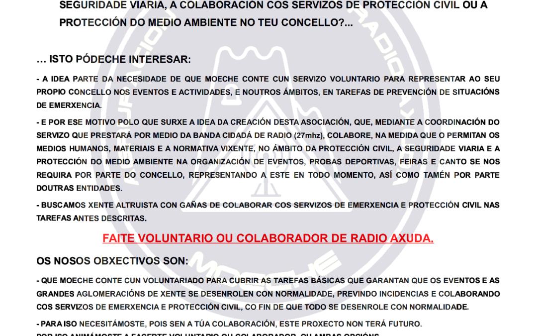 AGRUPACIÓN OPERATIVA RADIO AXUDA MOECHE (AORA) – APÚNTATE!!!