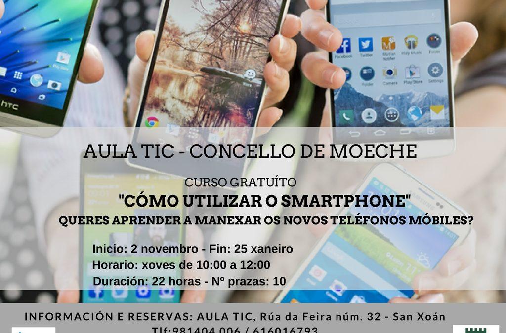 """Curso na Aula TIC do Concello de Moeche """"Cómo utilizar o smartphone"""""""
