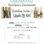 OBRADOIRO – RECICLAXE E DECORACIÓN (botellas, botes…)