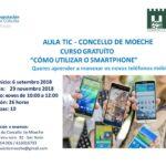 En setembro empeza un novo curso na Aula TIC de Moeche para aprender a utilizar o smartphone