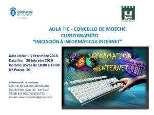 """Curso na Aula TIC de Moeche """"Iniciación á informática e Internet"""""""