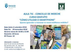"Curso ""Cómo utilizar o smartphone"" na Aula TIC de Moeche"