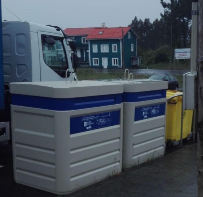 Moeche instala  novos colectores de papel e  cartón  e plástico