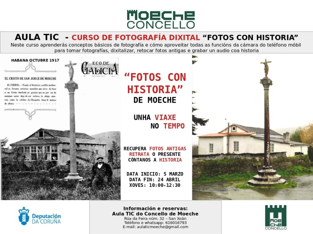 "Curso de fotografía dixital ""Fotos con Historia de Moeche"""