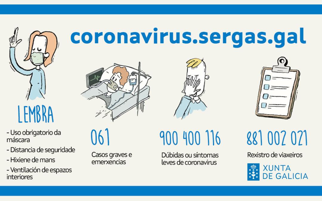 A Xunta de Galicia establece novas medidas ante os preocupantes datos da situación sanitaria